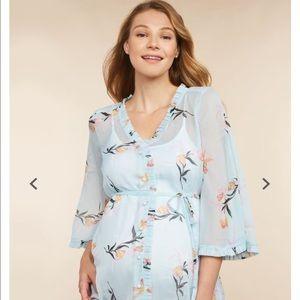 NWOT Jessica Simpson Maternity Aqua floral top